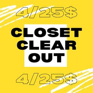 🧹 CLOSET CLEAR OUT 🧹 4 for 25$